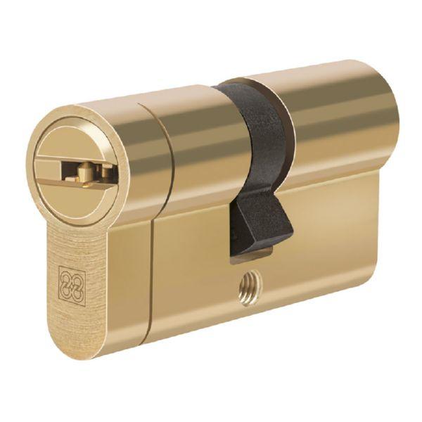 Cilindro de seguridad Mod. MPRO. Latón.. 35x35 mm.